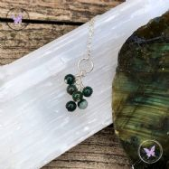 Bloodstone Cluster March Birthstone Necklace
